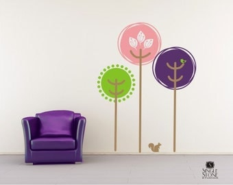 Wall Decals Tree Tops - Vinyl Text Wall Words Stickers Art Graphics