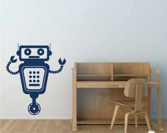Robot Wall Decal - Vinyl Wall Stickers Art