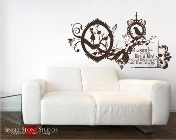 Wall Decals Like a Bird Collage - Vinyl Text Wall Words Stickers
