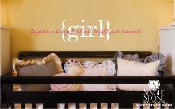 Girl Definition Wall Decal  - Vinyl Wall Words Stickers Art Lettering