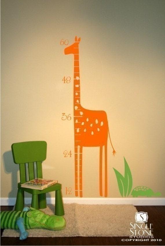 Giraffe Growth Chart Wall Decals - Kids Wall Decals