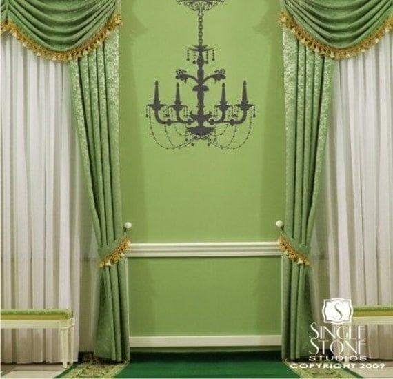 Chandelier Wall Decal - Elegant Style Wall Sticker