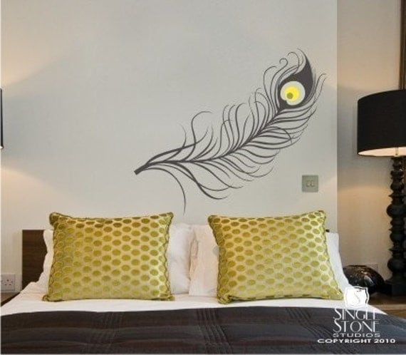 Details. Our Fun Peacock Feather Wall Decal ... Part 22