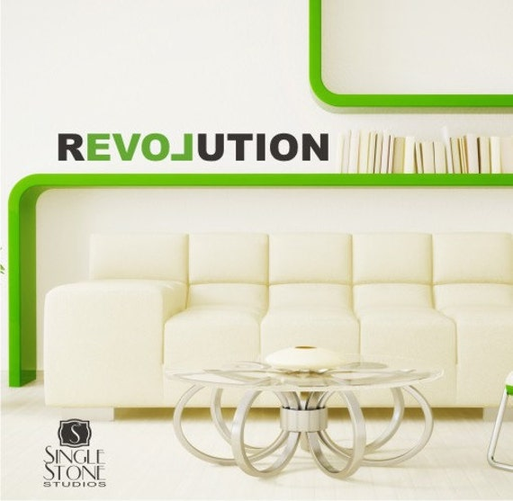 Wall Decal Love Revolution - Vinyl Text Wall Quotes
