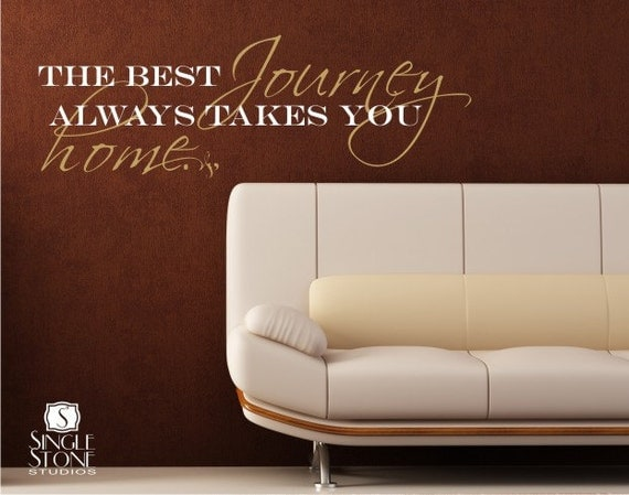 Best Journey Takes You Home Wall Decals Quote - Vinyl Sticker Art