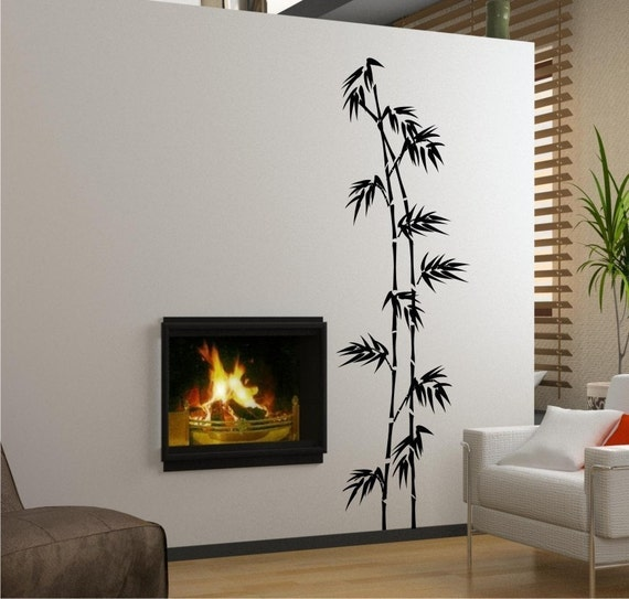 Tall Bamboo (Large) Vinyl Wall Decals Stickers Art Graphics