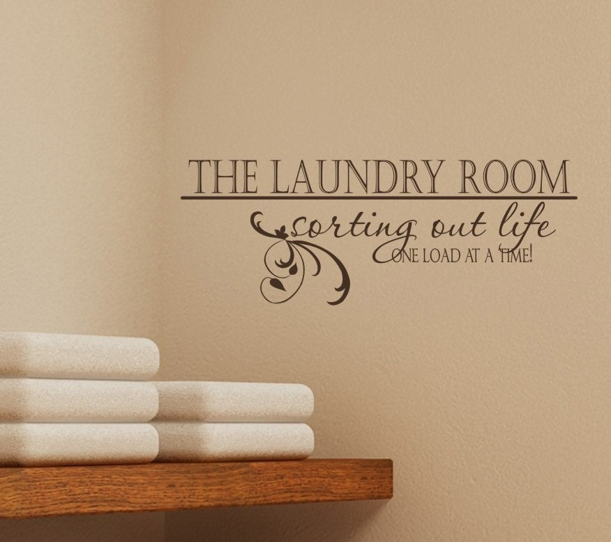 Laundry Room Vinyl Wall Quotes Enchanting Laundry Room Wall Decal Sorting Out Life Vinyl Wall Words Design Decoration