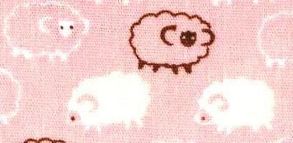 HALF YARD Sheeps Pink Cotton