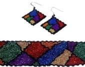 Stained Glass Cuff and Earrings Set Pattern