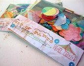 Handpainted Papers for Collage Mixed Media and Scrapbooking - Paper Carnival Pack