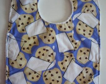 Baby or Toddler bib - Cookies and Milk