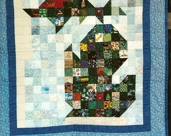 State of Michigan Quilt Block Pattern - Wall Hanging