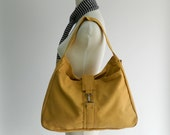 Yellow Mustard messenger bag , mom canvas diaper bag, Back to school latop bag , Travel ote bag Gift for her / SALE 30% - no.15 ASHLEY