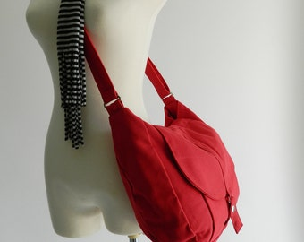 Red messenger bag, back to school, Shoulder bag ,women cross body bag ,diaper bag , gift for her , travel purse / SALE - 30% - no.12 KYLIE