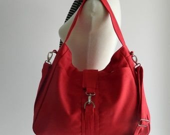 Ashley in Red  Diaper bag /Messenger bag /shoulder bag/Tote bag/Purse/Handbag/Women/Gift for her/School bag - Sale Sale Sale 30%