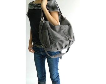 Gray messenger bag, crossbody bag,back to School bag, Mom shoulder bag, gift for her, Women travel handbag / Sale 30% - no.18 -DANIEL