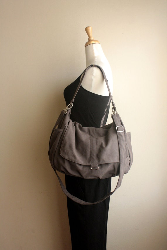 HAPPY NEW YEAR Sale - 25% off  // Daniel in Gray //  Messenger / tote / Diaper bag / Handbag / For Her / Women