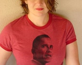 Tell Your Mama to Vote for Obama Ringer Tee - Women's Red