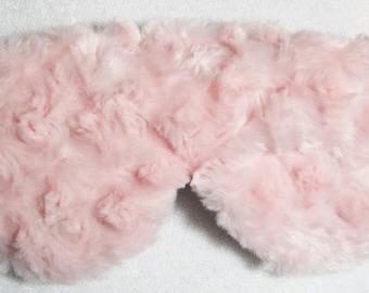 Pink Silk Luxury Girly Swirly Minky Sleep Eye Mask Travel Mask Travel Gift Silk Mask Fully Adjustable