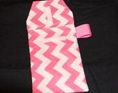 Diaper Clutch - Pink Zig Zag Diaper Clutch with a Pocket