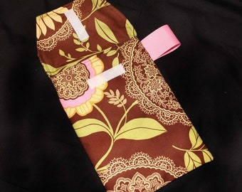Sale!! 50% off- Brown Lacework Diaper Clutch with Pocket -READY 2 SHIP