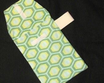 Sale 50% Diaper Clutch - Green Honeycomb Diaper Clutch with Pocket