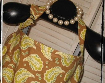 Sale!! 50% Off -Ready 2 Ship- Brown Dotted Paisley HideAway with Pocket and Overall Buckle