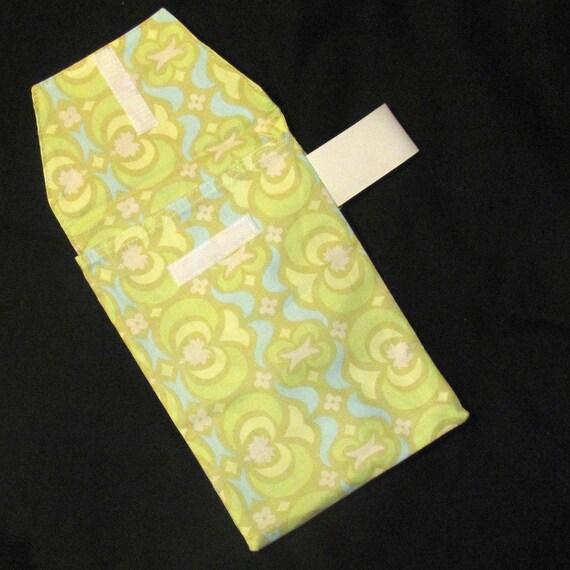 Sale 50% Off! Diaper Clutch - Lime Garden Maze Diaper Clutch with Pocket