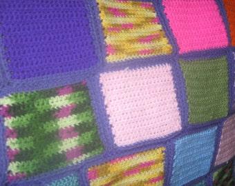Custom Crochet patchwork baby blanket