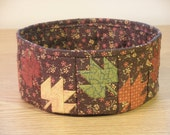 Quilted Fabric Bowl - Fall Leaves (TGbowlN)