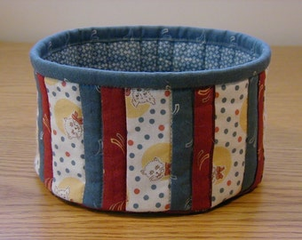 Quilted Fabric Bowl (EDbowlB)