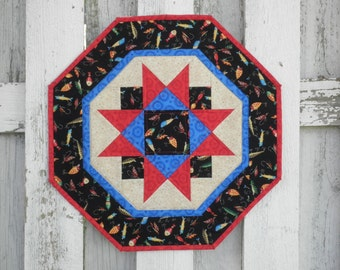 Quilted Star Table Topper - Fish Lures (UNTT22)