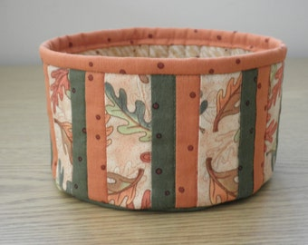 Quilted Fabric Bowl - Fall Leaves (TGbowlH)