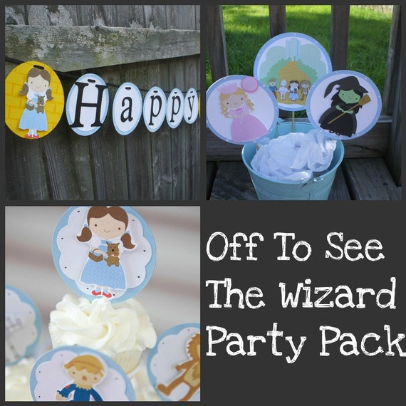 Off To See The Wizard Theme Party Pack