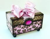 Pink Leopard Trinket Box