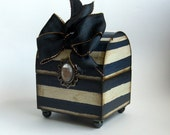 Home Decor Trinket box Denim Blue