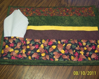 SALE !!!!   Autumn Delight Place Mats set of 3