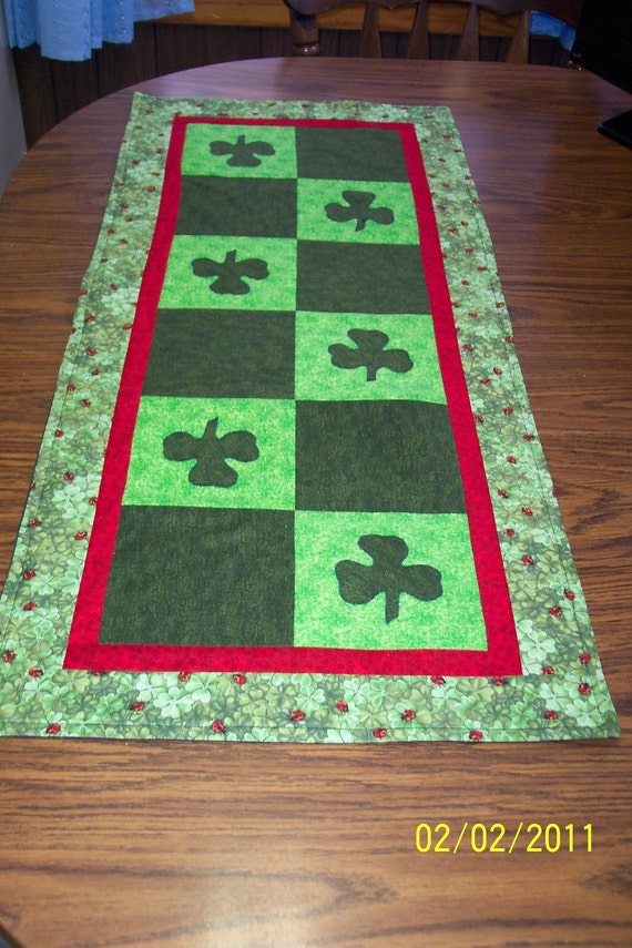 Lady Bugs and Clover Table Runner