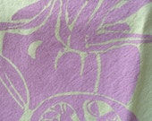 Cotton Dish Towel Screened with Lavender Tomatoes