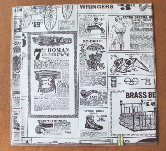 Vintage antique advertising Gift Wrap wrapping paper Victorian
