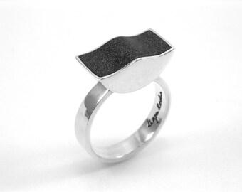 Sterling Silver Resin Ring
