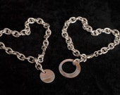 Friendship Bracelet Set with Charm cut from one Penny- Together We Make Cents, Coin Charm Bracelets - Family, Friends, Mother Daughter, BFF