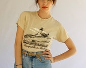 1980s Oatmeal Maine T Shirt Size S