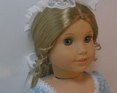 1774-503, 18 Inch American Girl Doll Clothes Pinner Cap Elizabeth Felicity Doll Clothing
