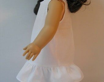 1904-1001 White Slip fits Samantha, Nellie or other  18 Inch Doll