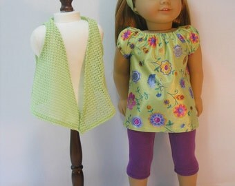 166 - 18 Inch Doll Clothing Leggings Tunic fits American Girl