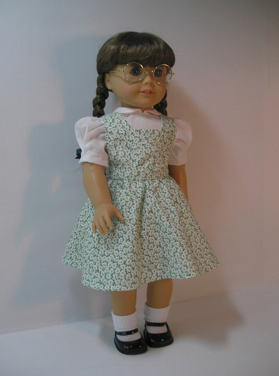 1944-103P-6, 18 Inch Doll Clothes American Girl Molly Emily  Jumper Dress