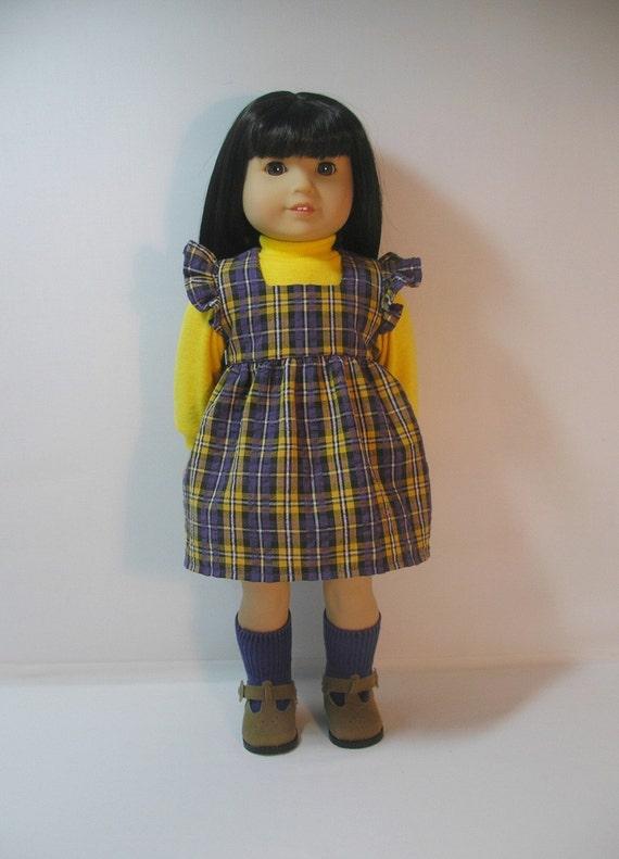 1974-117 18 Inch Doll Sundress Jumper Turtleneck Julie Ivy American Girl