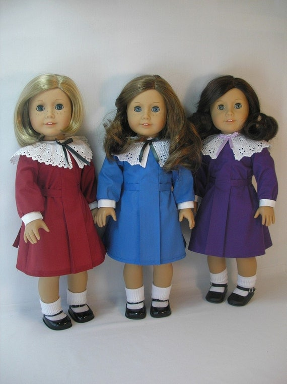 1934-111 American Girl Doll Clothing Holiday Dress Kit Ruthie 18 Inch Doll Clothes