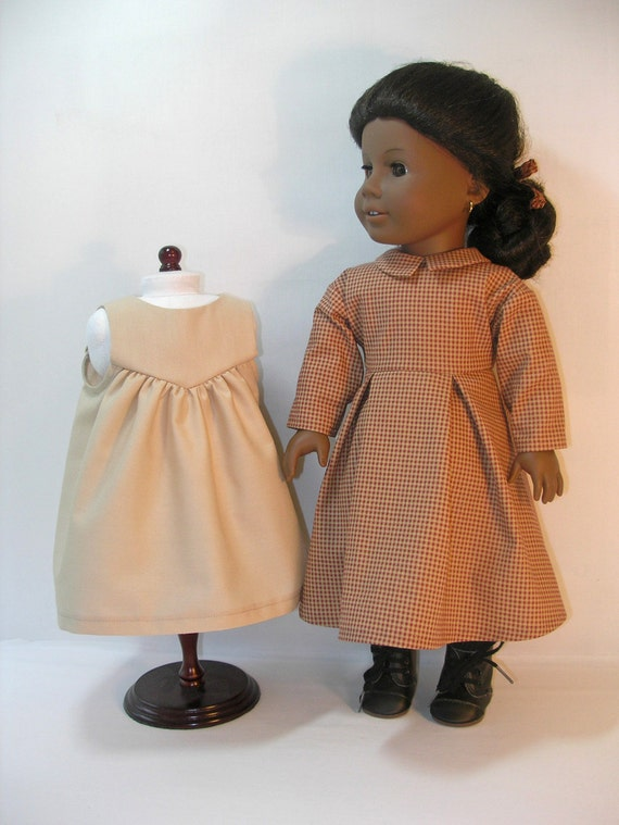 1864-1088  18 Inch Doll Clothes American Girl, Work Dress for Americn Girl Doll Addy